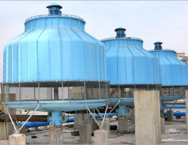 Bottle-Shape-FRP-Cooling-Tower